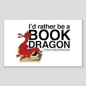 Book Dragon Sticker