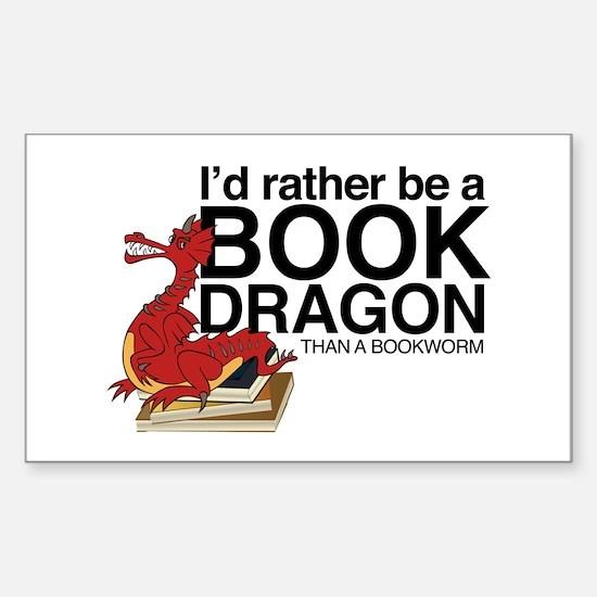 Book Dragon Decal