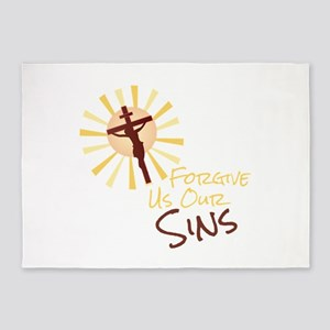Forgive Our Sins 5'x7'Area Rug