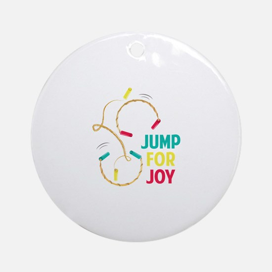 Jump For Joy Round Ornament