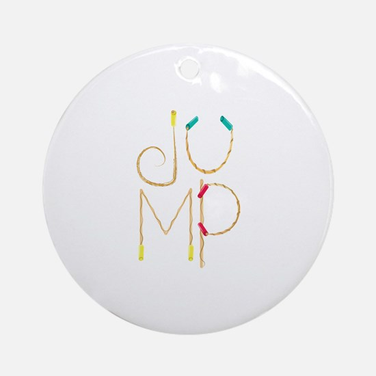 Jump Ropes Round Ornament