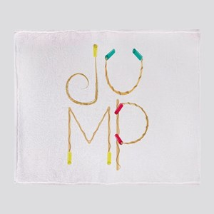 Jump Ropes Throw Blanket