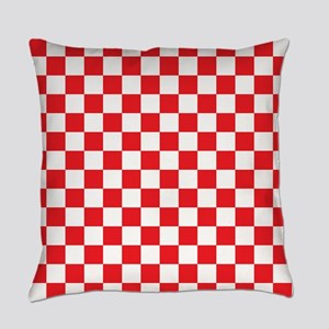 Red Checkered Everyday Pillow