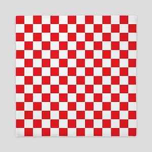 Red Checkered Queen Duvet