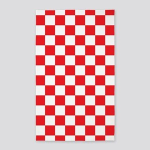 Red Checkered Area Rug