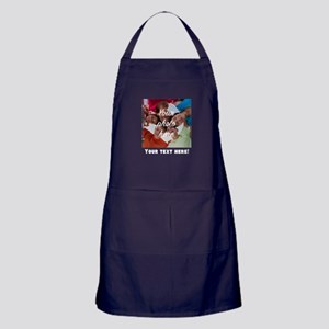 Your Photo And Text Apron (dark)