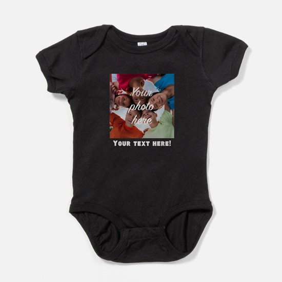 Your Photo And Text Baby Bodysuit