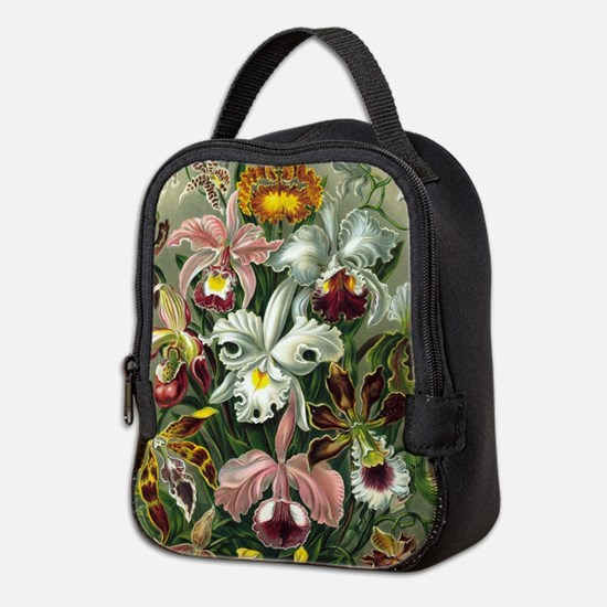 Vintage Orchid Floral Neoprene Lunch Bag