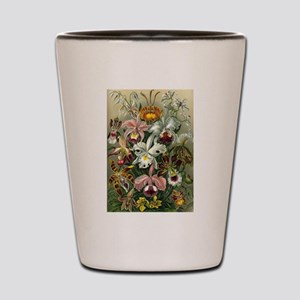 Vintage Orchid Floral Shot Glass