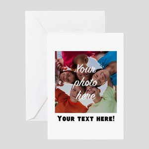 Your Photo And Text Greeting Cards