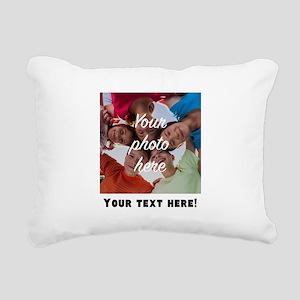 Your Photo And Text Rectangular Canvas Pillow