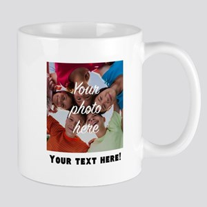Your Photo And Text Mugs