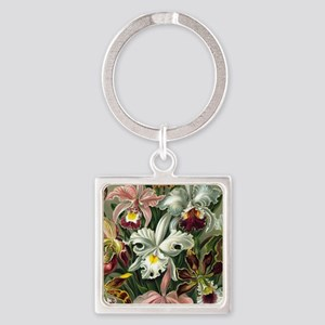 Vintage Orchid Floral Keychains