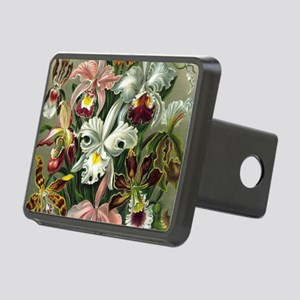 Vintage Orchid Floral Rectangular Hitch Cover