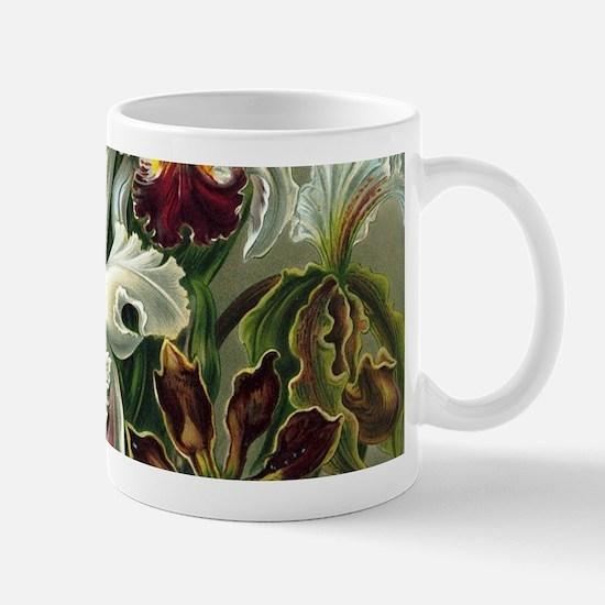 Vintage Orchid Floral Mugs