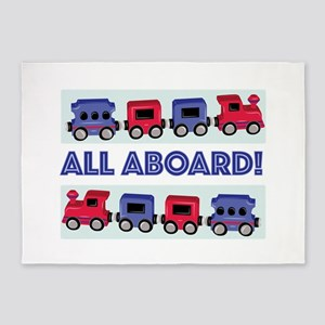All Aboard 5'x7'Area Rug