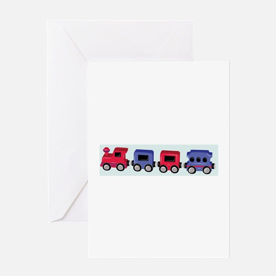 Toy Train Greeting Cards