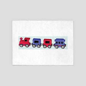 Toy Train 5'x7'Area Rug