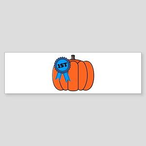 Award Pumpkin Bumper Sticker