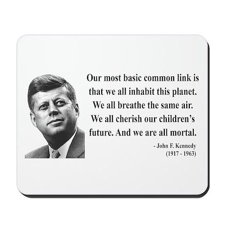 John F. Kennedy 1 Mousepad