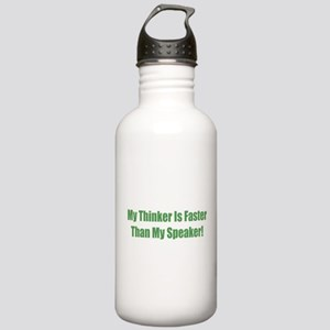My Think Is Faster Tha Stainless Water Bottle 1.0L
