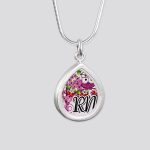 Nurse RN Blossoms Pink Necklaces