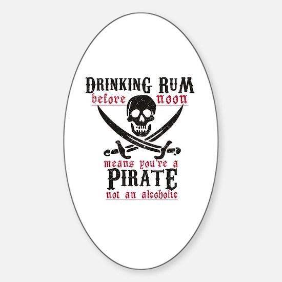 Funny Pirate Sticker (Oval)