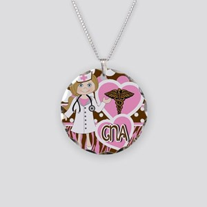 CNA Necklace Circle Charm