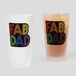 Fab Dad Drinking Glass