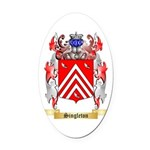Singleton Oval Car Magnet