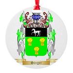 Singer Round Ornament