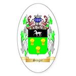 Singer Sticker (Oval)