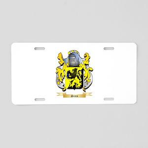 Sims Aluminum License Plate