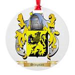 Simpson Round Ornament