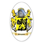 Simpson Sticker (Oval 50 pk)