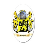 Simpson 35x21 Oval Wall Decal
