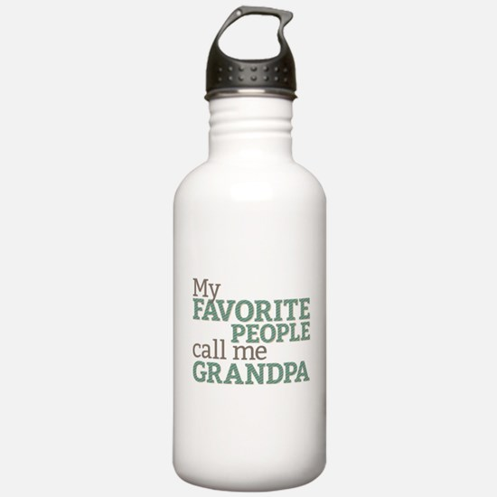 Call Me Grandpa Water Bottle