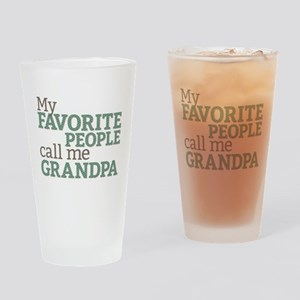 Call Me Grandpa Drinking Glass