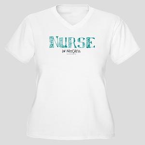 Nurse in Progress Women's Plus Size V-Neck T-Shirt
