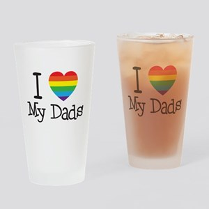 I Love My Dads Drinking Glass