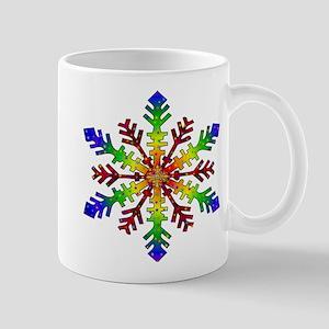 Rainbow Stars Snowflake Mug