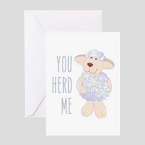 Herd Me Greeting Cards