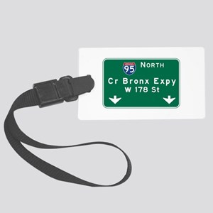 Cross Bronx Expressway, NYC Road Large Luggage Tag