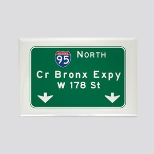 Cross Bronx Expressway, NYC Road Rectangle Magnet