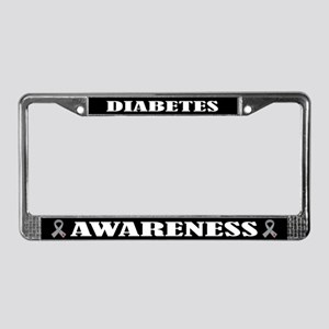Diabetes Awareness Support License Plate Frame