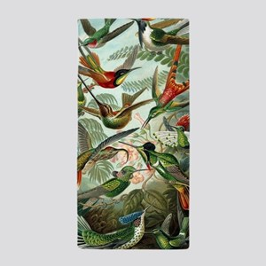 Vintage Hummingbirds Decorative Beach Towel
