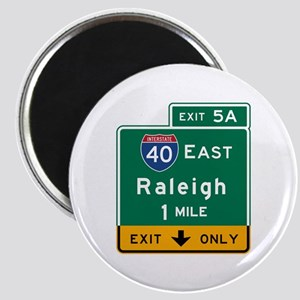 Raleigh, NC Road Sign, USA Magnet