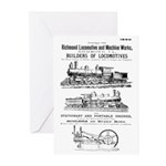Richmond Locomotive Works Greeting Cards (20)