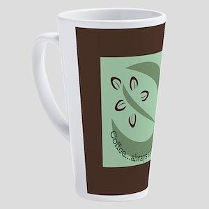 Coffee...always a good idea 17 oz Latte Mug