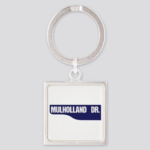 Mulholland Drive, Old-Style Street Square Keychain